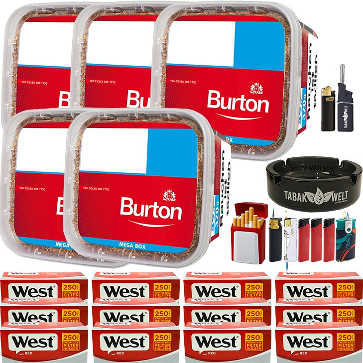 Burton 5 x 350g mit 3000 Special Size Hülsen