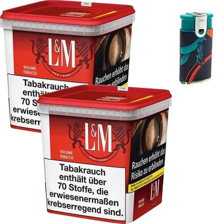 L&M Red Super Box 2 x 260g mit Duo Feuerzeuge mit 2 Flammen