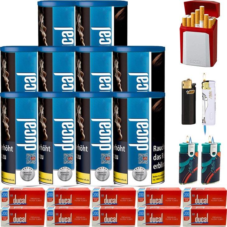 Ducal Blue 10 x 200g mit 2000 King Size Filterhülsen
