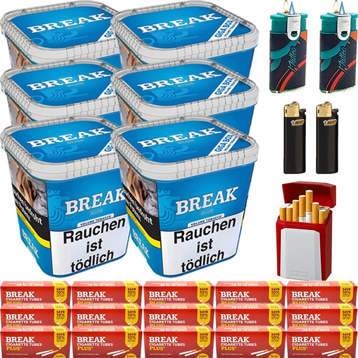 Break Blue 6 x 230g mit 3000 Plus Hülsen