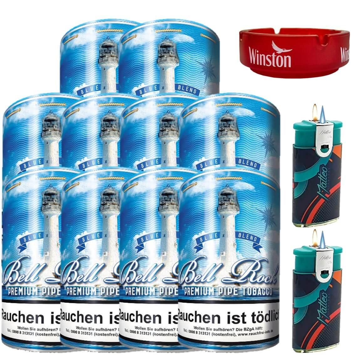 Bell Rock Blue Blend 10 x 160g Pfeifentabak Uvm.