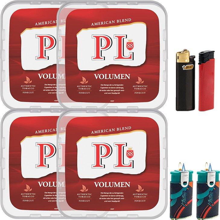 PL88 Red 4 x 400g mit Feuerzeugen