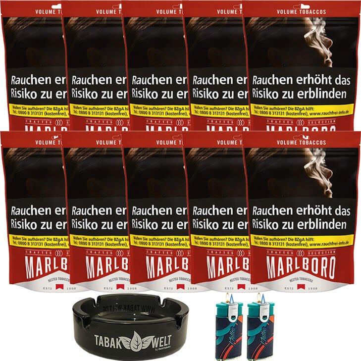 Marlboro Crafted Selection 10 x 130g mit Glasaschenbecher