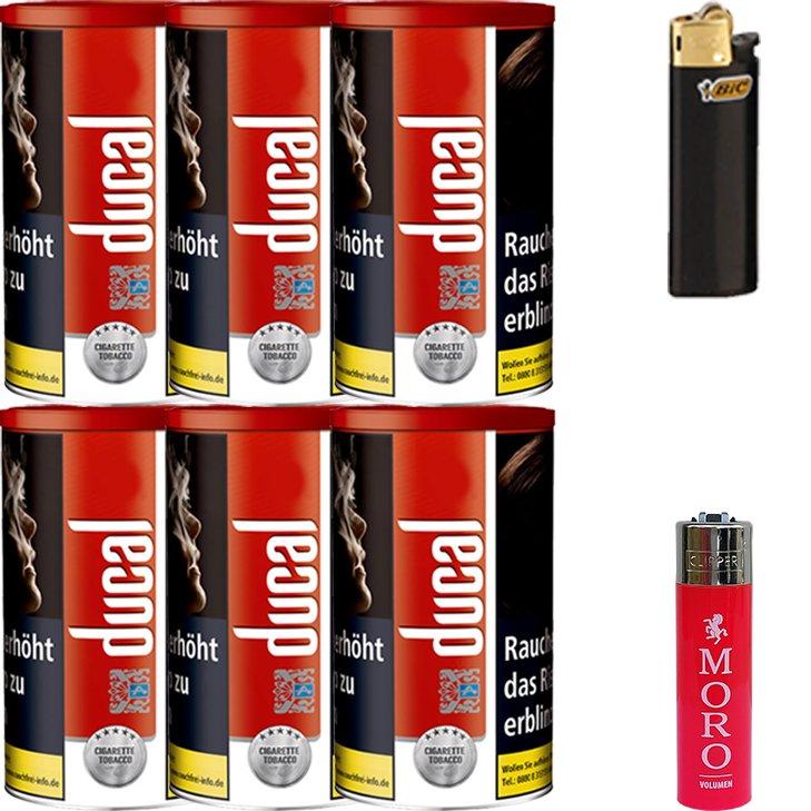 Ducal Red 6 x 200g mit Feuerzeugen