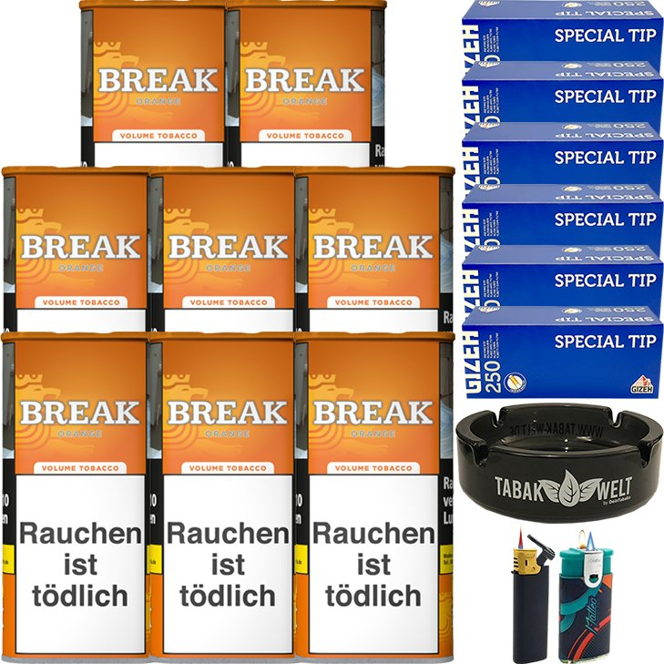 Break Orange 8 x 110g mit 1500 King Size Hülsen