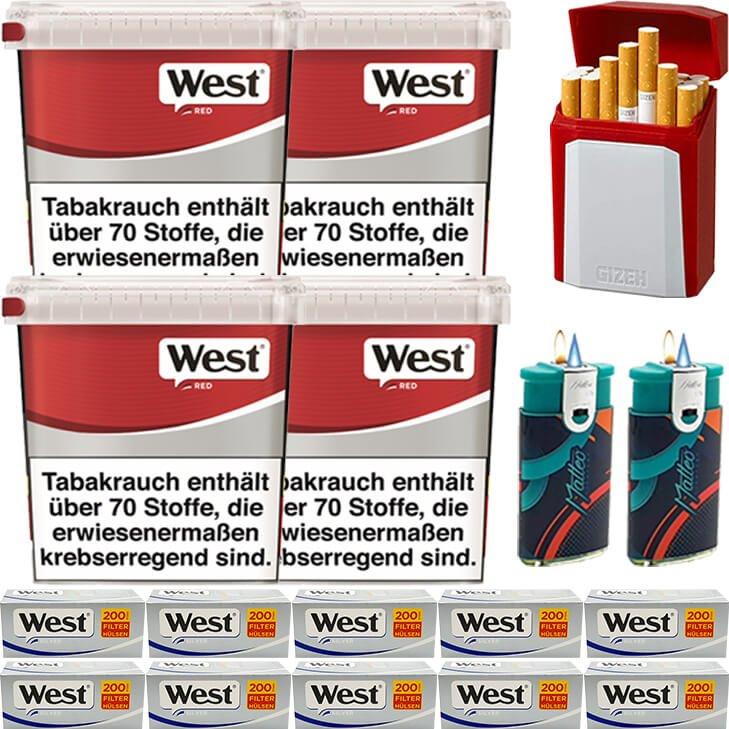 West Red 4 x 260g mit 2000 Silver Hülsen