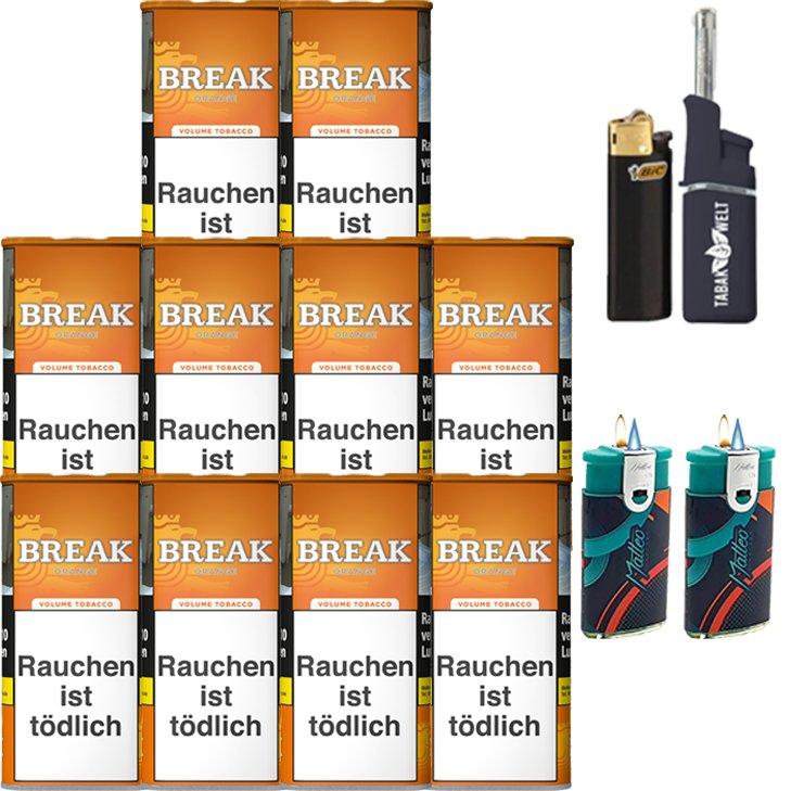 Break Orange 10 x 110g mit Feuerzeugen