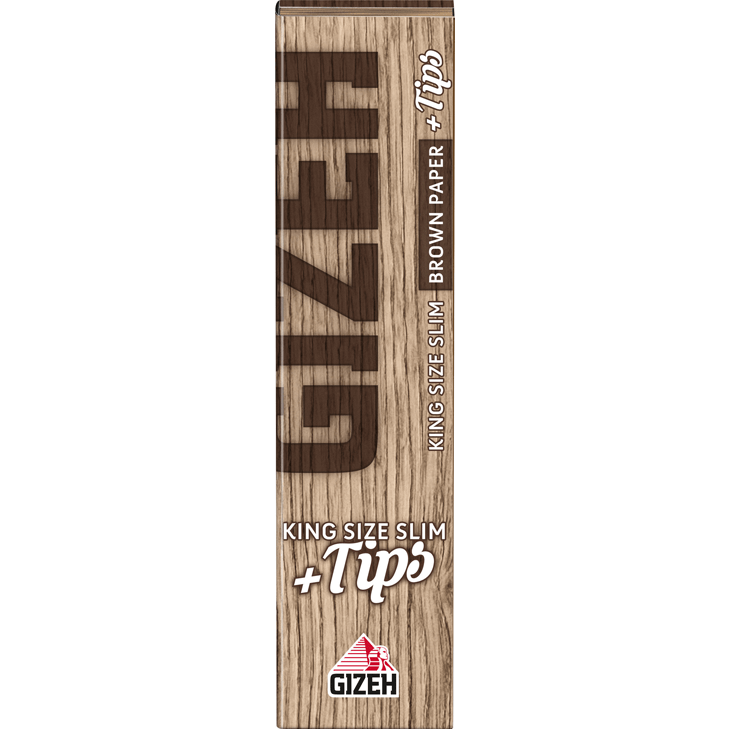 Gizeh Brown King Size Slim 34 Blatt + Tips