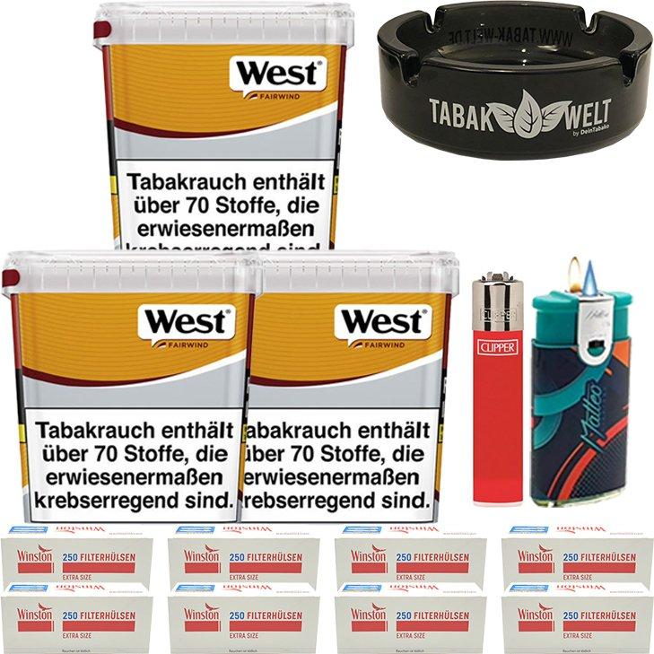 West Yellow Fairwind 3 x 310g mit 2000 Extra Size Hülsen