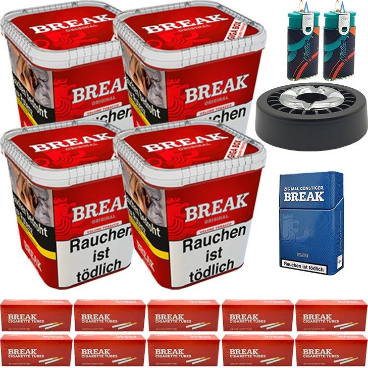 Break Original 4 x 230g mit 2000 King Size Hülsen
