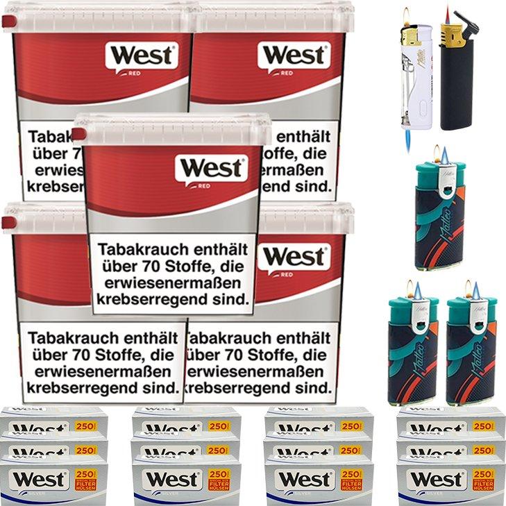 West Red 5 x 260g mit 3000 Silver Special Hülsen