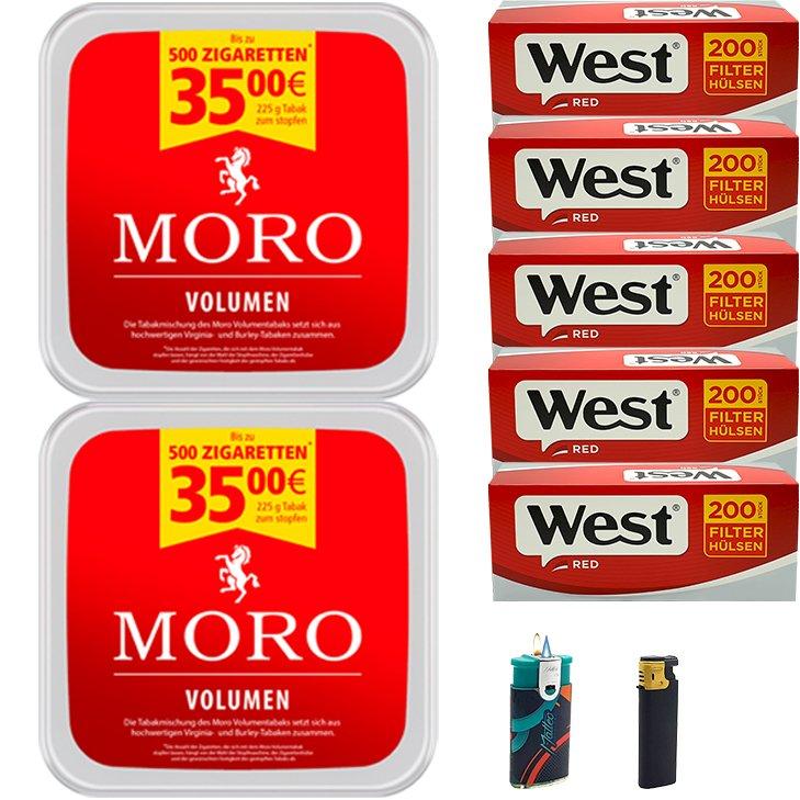Moro Volumen 2 x 225g mit 1000 Hülsen