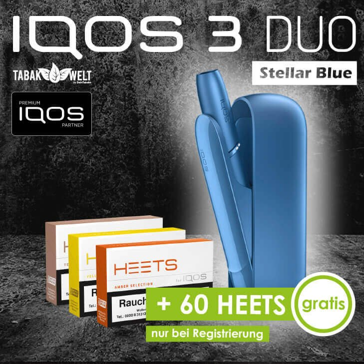 IQOS™ 3 DUO Starterkit Stellar Blue + 60 Heets