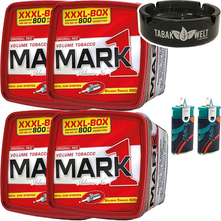 Mark 1 - 4 x 400g mit Glasaschenbecher