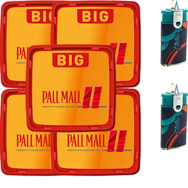 Pall Mall Allround Red 5 x 120g mit Duo Feuerzeugen