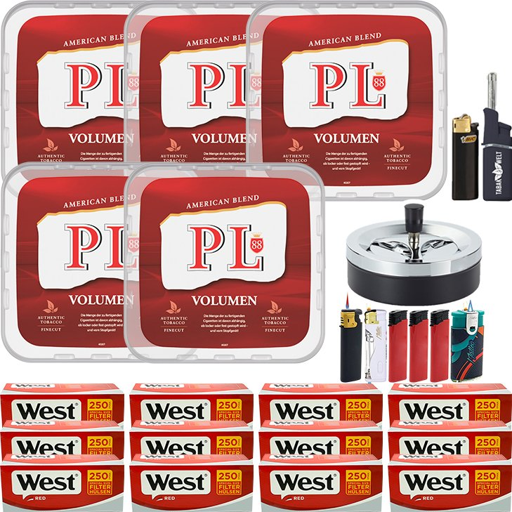 PL88 Red 5 x 365g mit 3000 Special Size Hülsen