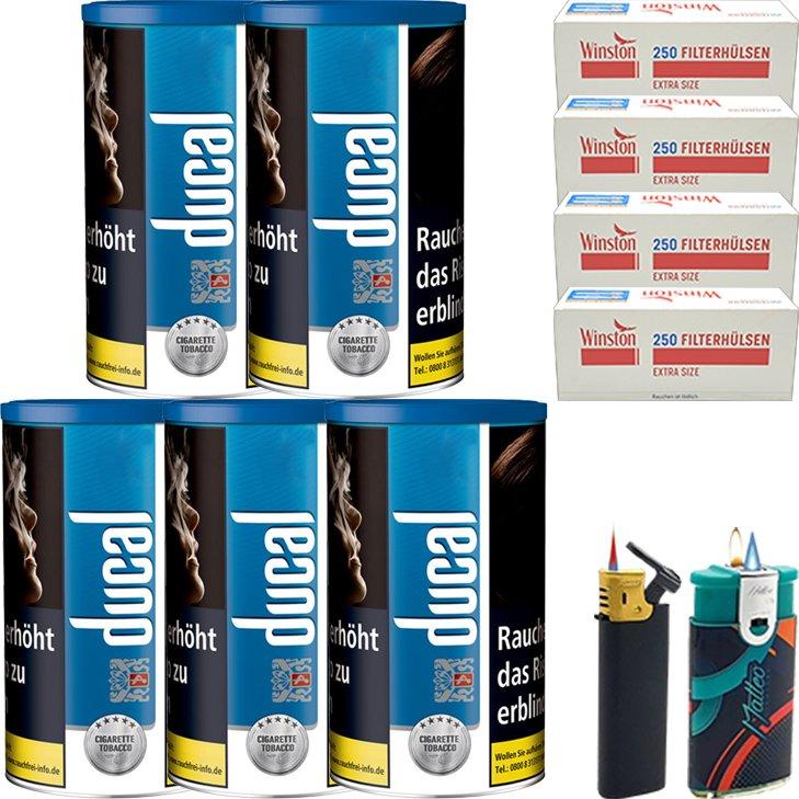 Ducal Blue 5 x 200g mit 1000 Special Size Filterhülsen
