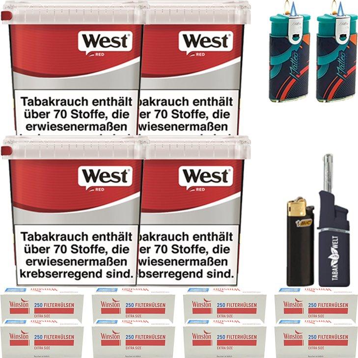 West Red 4 x 260g mit 2000 Extra Size Hülsen