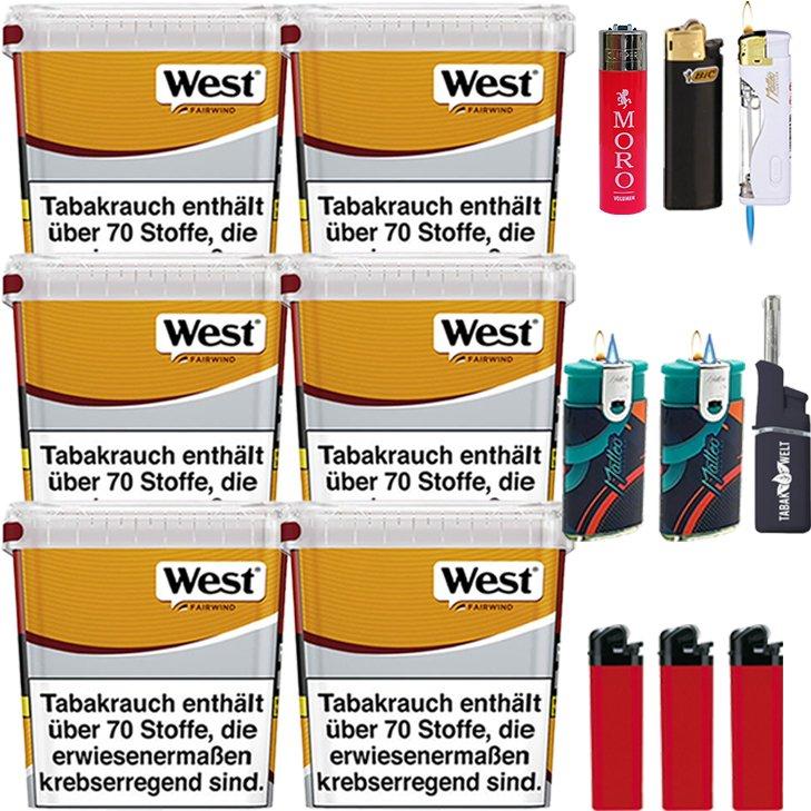 West Yellow Fairwind 6 x 280g mit Feuerzeugen