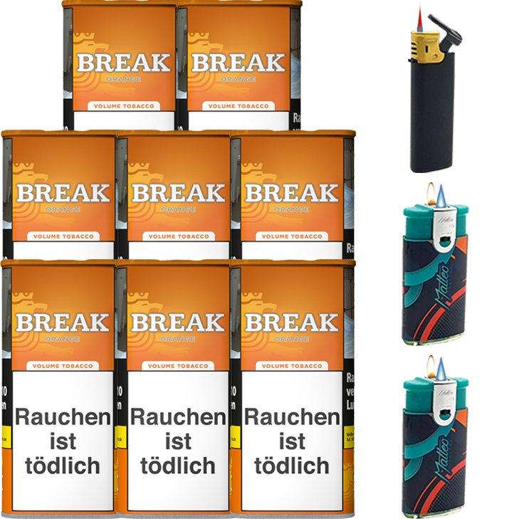 Break Orange 8 x 110g mit Feuerzeugen
