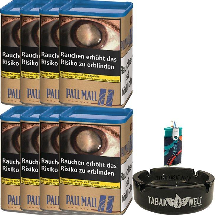 Pall Mall Authentic Blue 8 x 55g mit Glasaschenbecher