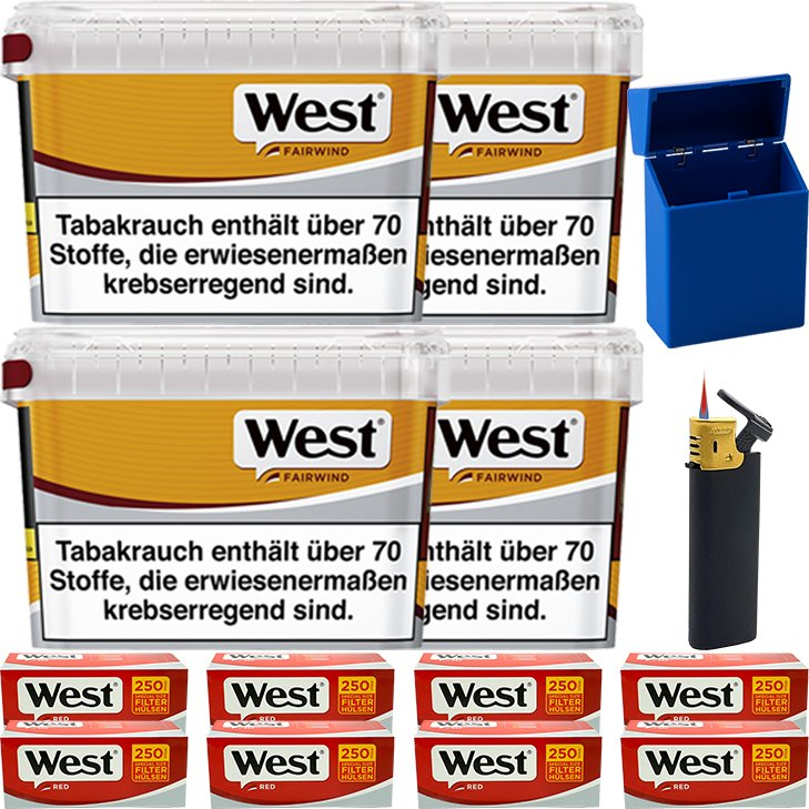 West Yellow Fairwind 4 x 185g mit 2000 Special Size Hülsen