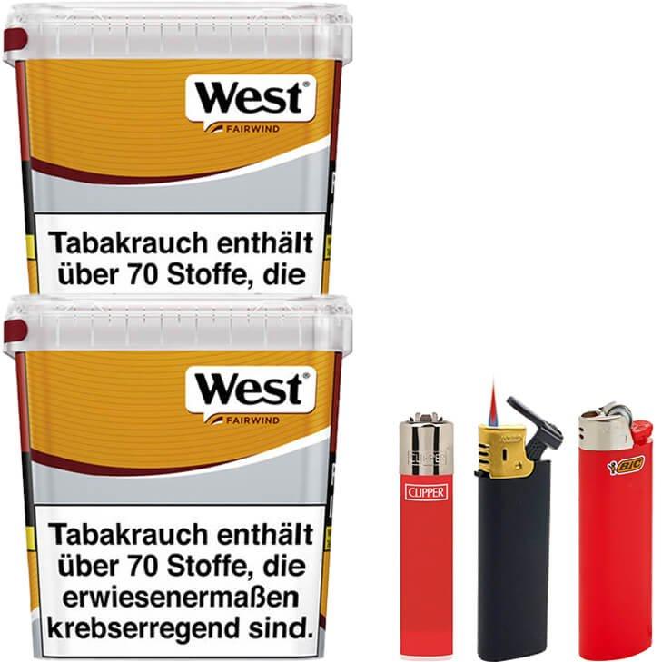 West Yellow Fairwind 3 x 310g mit Feuerzeugen