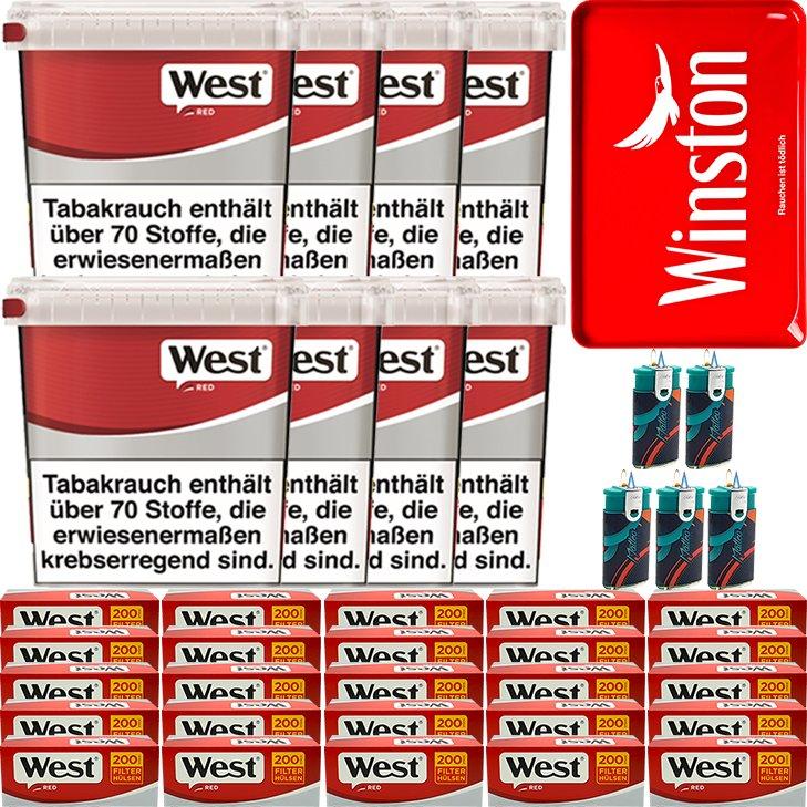West Red 8 x 260g mit 5000 King Size Hülsen