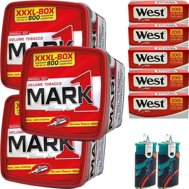 Mark 1 - 3 x 400g mit 1000 Red Hülsen