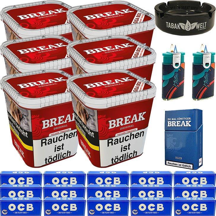 Break Original 6 x 230g mit 3000 OCB Hülsen