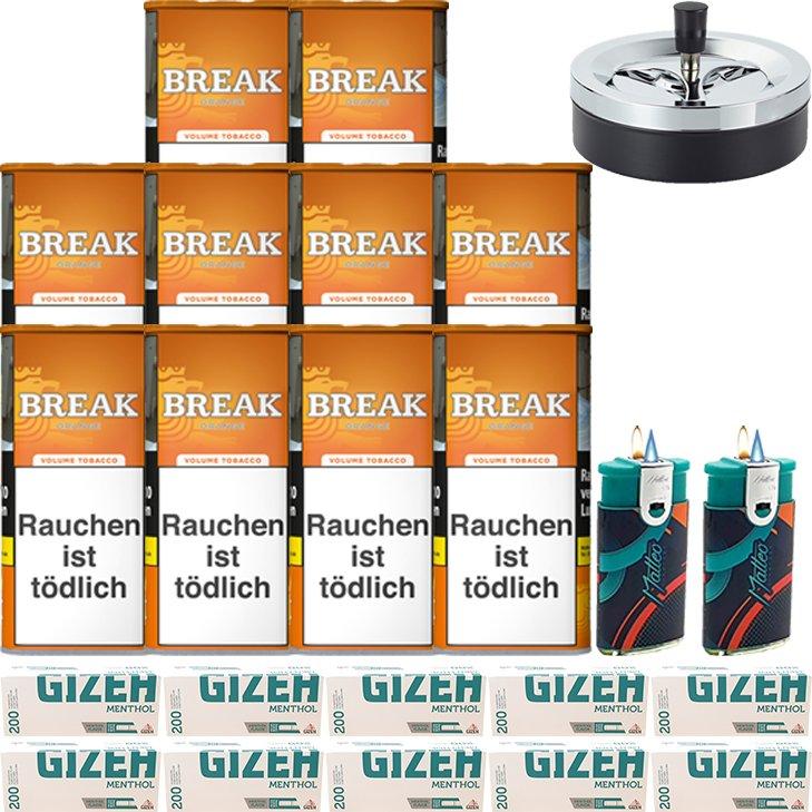 Break Orange 10 x 110g mit 2000 Menthol Hülsen