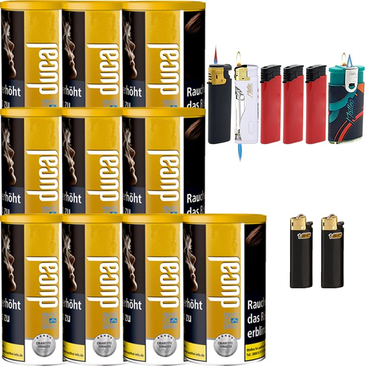 Ducal Gold 10 x 200g mit Feuerzeugen