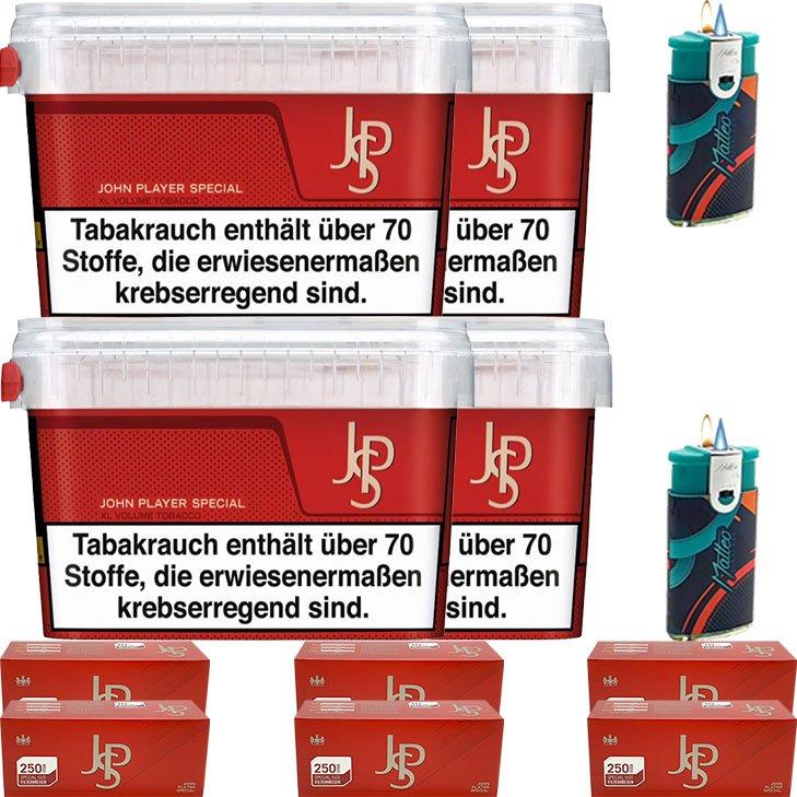 JPS John Player Mega Box 4 x 150g mit 1500 Special Size Hülsen