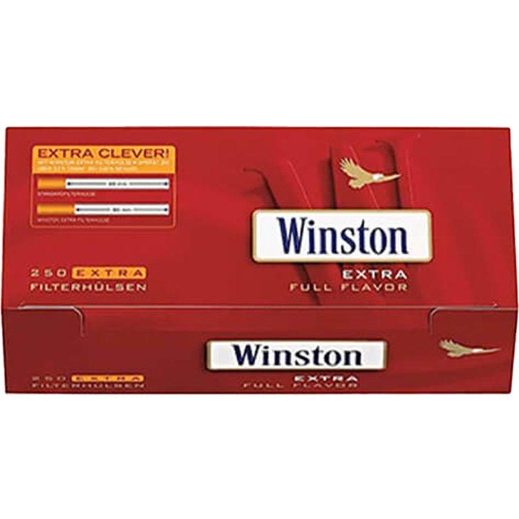 Winston Blue 6 x 125g Beutel mit 1500 Extra Filterhülsen
