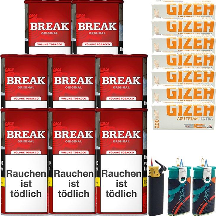 Break Original 8 x 115g mit 1400 Extra Hülsen