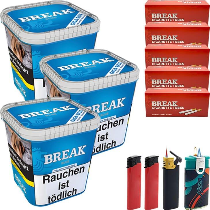 Break Blue 3 x 230g mit 1000 Hülsen