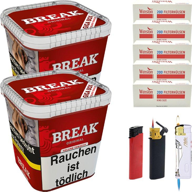 Break Original 2 x 230g mit 1000 King Size Hülsen