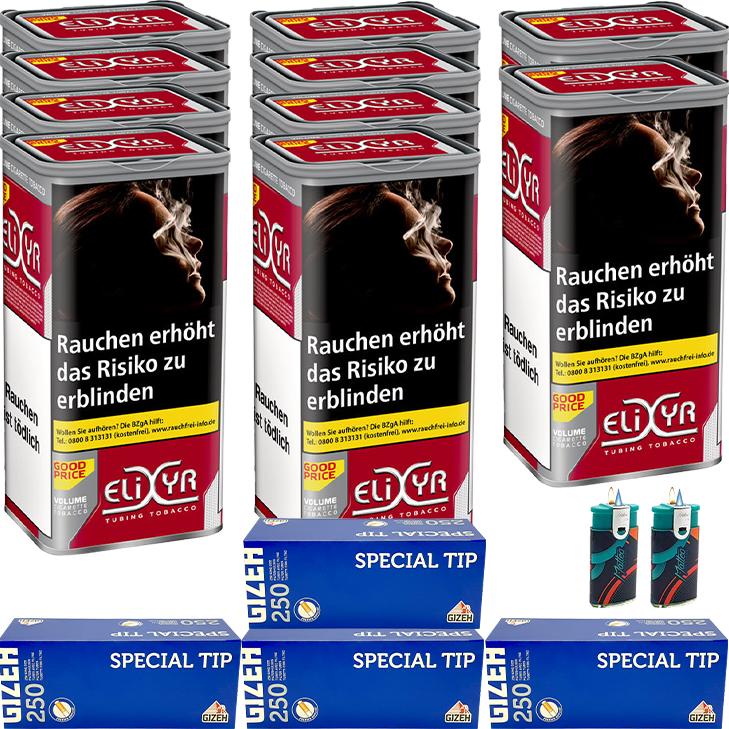 Elixyr Red 10 x 130g mit 1000 Gizeh King Size Hülsen