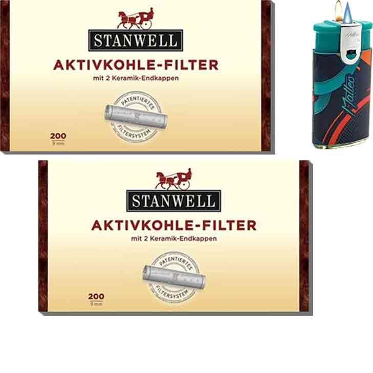 Stanwell Aktivkohlefilter 2 x 9 mm 200 Stück