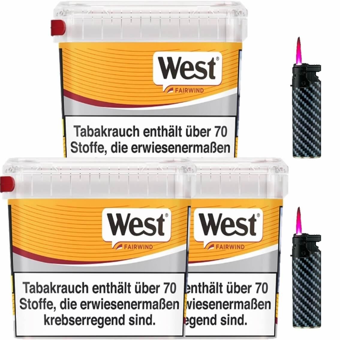 West Yellow Fairwind 3 x 215g mit Sturmfeuerzeugen