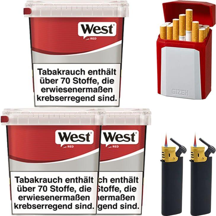 West Red 3 x 260g mit Etui