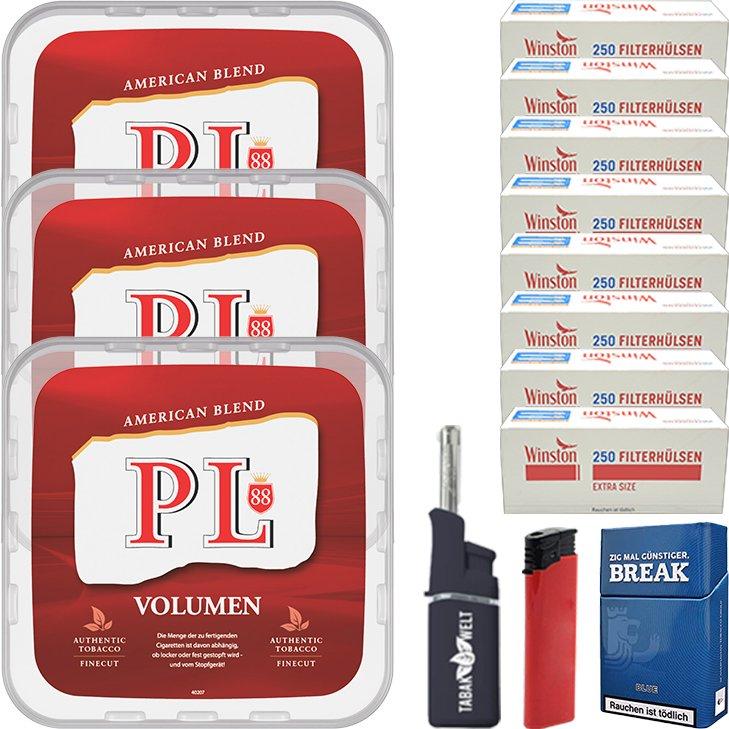 PL88 Red 3 x 365g mit 2000 Special Size Hülsen