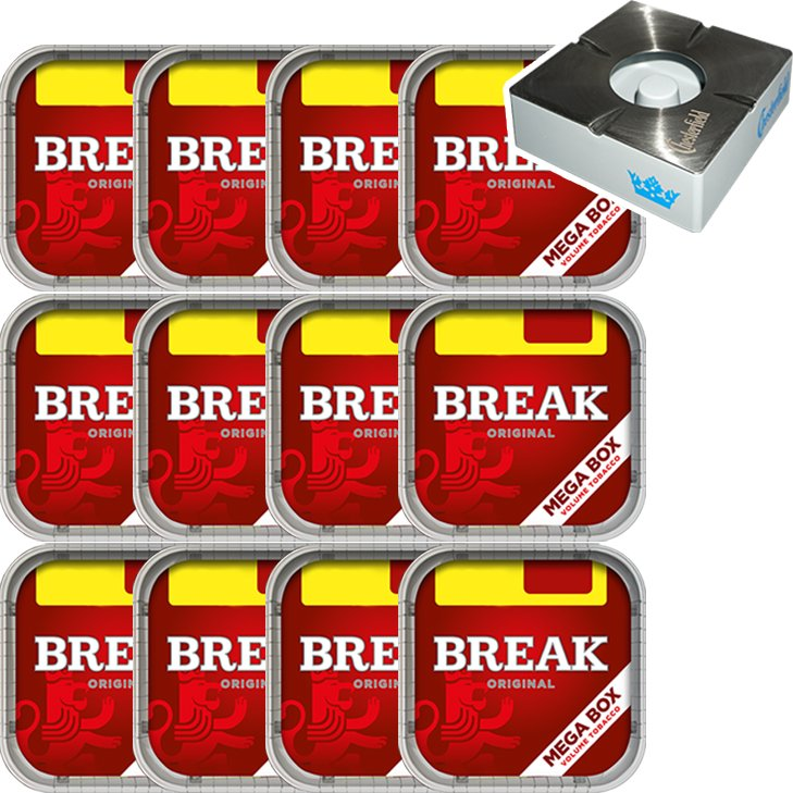 Break Original 12 x 170g mit Chesterfield Aschenbecher