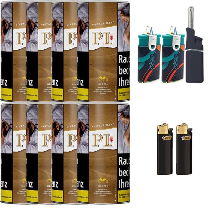 PL88 Vintage Blend 8 x 180g mit Feuerzeuge