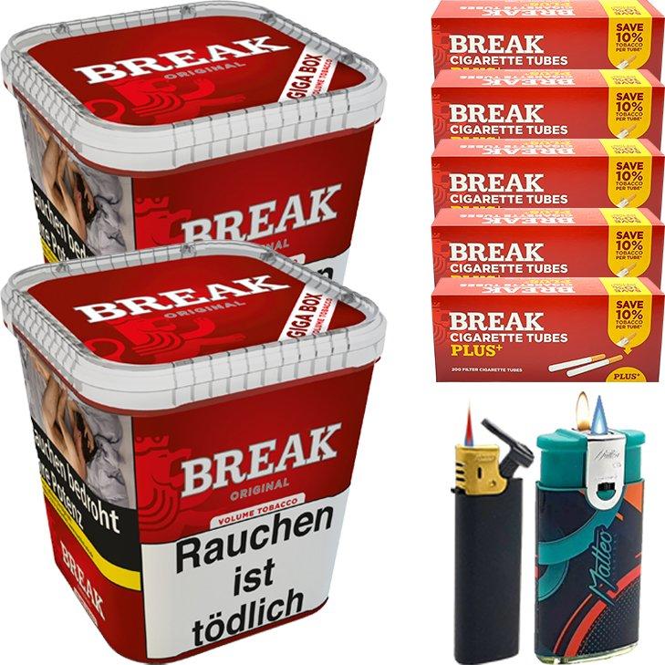 Break Original 2 x 230g mit 1000 Plus Hülsen
