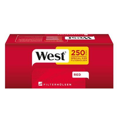 West Red 5 x 125g mit 1000 Extra Size Hülsen