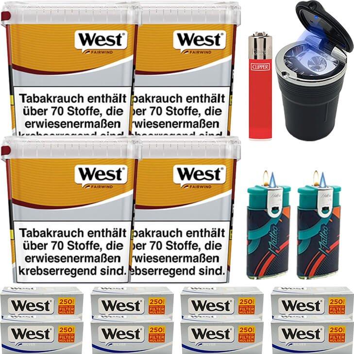 West Yellow Fairwind 4 x 310g mit 2000 Silver Special Size Hülsen