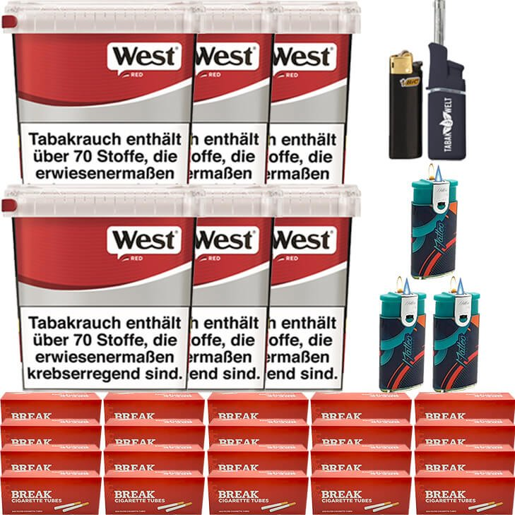 West Red 6 x 260g mit 4000 Hülsen