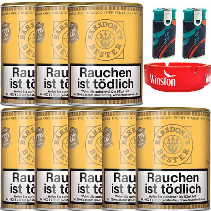 Barsdorf´s Bester Honey & Rum / Gold 8 x 160g Pfeifentabak Uvm.