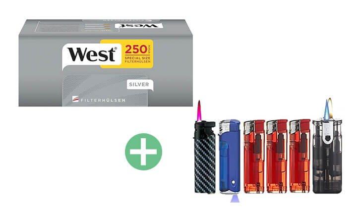 West Silver Special Size Filterhülsen 20 x 250